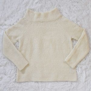 Anthropologie Mock Neck Wool Angora Blend Sweater